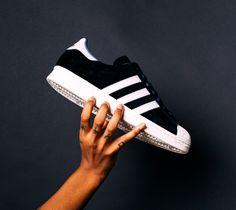 huge discount 32f33 d13c0 adidas-superstar-daim3 Toile, Chaussure, Chaussures De Basket, Chaussures  Sur Mesure