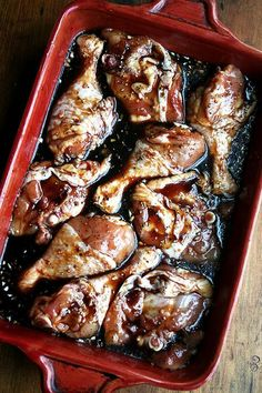 Honey-Soy Chicken Drumsticks: In the spirit of old-fashioned, unsubtle, crowd-pleasing recipes, I offer another oldie but goodie from The New New York Times Cookbook (Craig Claiborne, 1979), a recipe my mother pulled out for ne...