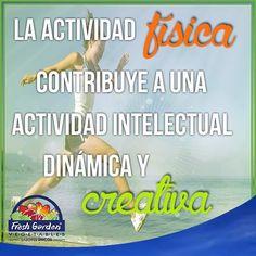 """""""La actividad física contribuye a una actividad intelectual dinámica y creativa"""" #FraseDelDía #Motivación"""