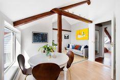 TIL SALGS - SJELDEN SJANSE  Fantastisk #loftsleilighet på #Sagene i #Oslo. Sørvestvendt solrik takterrasse. God standard, 53m² gulvareal. Nytt kjøkken 2016.  Velkommen til visning 26/7 og 29/7, eller kontakt gjerne megler Kennet Hessvik for privatvisning: 478 11 016  #toroms #leilighettilsalgs #grimstadgata #solheledagen #terrasse #takterrasse #oslove #stue #skandinavisk #interiør @marikafoto @privatmegleren_park Elegant, Furniture, Home Decor, Modern, Rome, Classy, Decoration Home, Room Decor, Home Furnishings