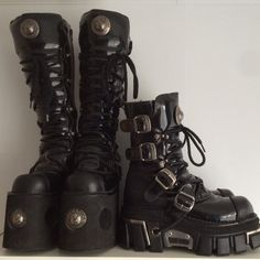 Updates from VintagePlatformDeal on Etsy Dr Shoes, Cute Shoes, Me Too Shoes, Shoes Heels, Aesthetic Shoes, Aesthetic Clothes, Bottes Goth, Mode Emo, Goth Boots
