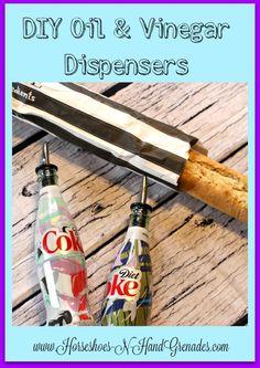 DIY One of A Kind Oil & Vinegar Dispensers