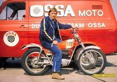 Mick Andrews on OSSA Motorcycle Racers, Racing Motorcycles, Vintage Motorcycles, Racing Bike, Off Road Bikes, Dirt Bikes, Street Tracker, Trial Bike, Branding