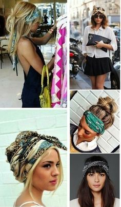 Trends 2016 - I& do it myself The year is over and it& time . Trends 2016 – I& do it myself The year is over and it& time … …, Bandana Hairstyles, Headband Hairstyles, Hair Scarf Styles, Curly Hair Styles, Look Boho Chic, Style Boho, Hippie Style, Trends 2016, Mode Hippie