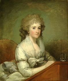 Gilbert Stuart- Portrait of a Lady. Shaping America Exhibit at the BYU MOA.