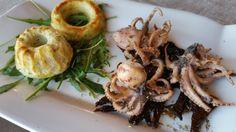 Polipetto in aceto balsamico e tortino di alici