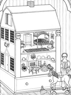 190 Best Dollhouse Illustrations Images Cross Section Dollhouses