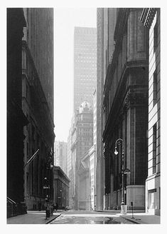 BROAD STREET, NEW YORK CITY, 1949 by Ansel Adams