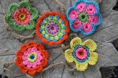 Funky flower garland spring colours 5 by SassySudburySisters,