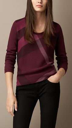 Check Detail Wool Cashmere Sweater | Burberry