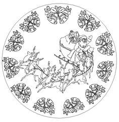 Coloriages de Mandala noël - Votre image id-6 sur UnGaVa.info