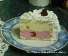 Habos málnás-barackos-joghurtos torta Hungarian Cake, Hungarian Recipes, Hungarian Food, Ale, Dessert Recipes, Cooking Recipes, Pudding, Dishes, Cookies