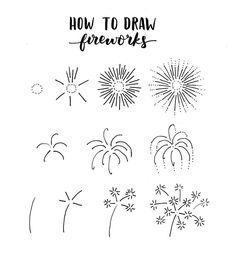 "7,324 Likes, 46 Comments - AmandaRachLee (@amandarachdoodles) on Instagram: ""here's a little firework doodle tutorial i know that this is up really late, but at least i got…"""