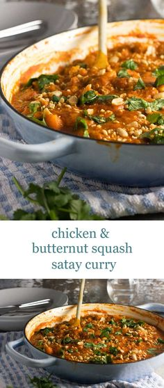 Our favourite curry is this chicken and butternut squash satay curry - it's so delicious!