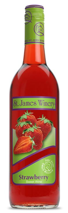 This Wine is made from sweet vine ripened strawberries and it tastes wonderful when served well-chilled, especially with dessert like pound cakes or milk chocolate.