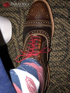 #ParadisoInsurance Commercial Insurance, Insurance Agency, Fun Socks, Oxford Shoes, Dress Shoes, Lace Up, Pairs, Professional Shoes, Pump Shoes