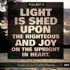 Psalm 97:11 NIV