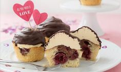 ❤️ Donauwellen-cupcakes für Valentinstag ❤️