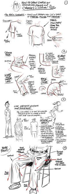 Clothing folds