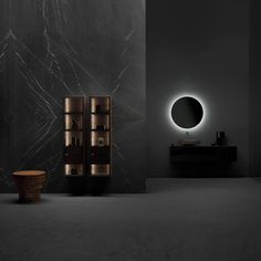 Italian designer Andrea Federici created Butler for Falper, a wall-mounted bathroom cabinet system made from solid walnut or oak, aluminium and glass. Column Base, Clothes Rail, Living Environment, Dezeen, Interior Lighting, Decorative Objects, Butler, Showroom, Interior Architecture