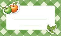 Jam label - apple Befőzőcímke - alma
