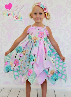 Girls Boutique Fairy Dress PDF Pattern