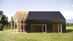 Vast glas met loopdeur ----- Low Energy Prefab House on Behance