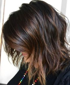 Brown+Highlights+For+Black+Hair #WomenHairColorHairdos