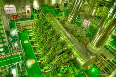 Ship's engine room