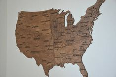 Fathers Day Gift USA Wall Map Wooden United States Map of USA
