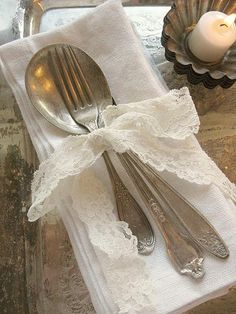 Lovely vintage cutlery setting