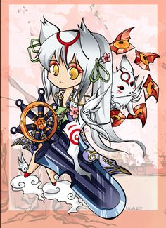 third poster in my series of Okami! Amaterasu, Chibi, Geek Stuff, Cosplay, Deviantart, Manga, Gallery, Poster, Animals