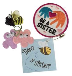 Bee a Sister SWAP Kit with one Free Patch. The Girl Scout Law reminds us to be a sister to every Girl Scout. These SWAPs are a cute reminder. Kit makes 24 SWAPs and includes one free patch! Available at MakingFriends.com