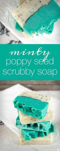 How to Make Minty Poppy Seed Scrubby Soap