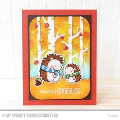 My new stamp set and Die-namics, Happy Hedgehogs have been revealed! It's Day 4…