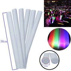 1PCS Light Up Foam Sticks Glow Party LED Flashings Vocal Concert Reuseable