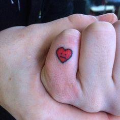 Small Heart: Handpoked, Toronto Line Tattoo Stick N Poke Tattoo, Stick And Poke, Handpoked Tattoo, Line Tattoos, Small Heart, Toronto, Body Art, Piercings, Tattoo Designs