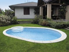 small and nice - steps into the pool,  large enough to do laps, exercise and float around - that's all I need - oh and may be a pool person to keep it clean!