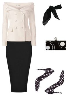 """Black and White"" by rosamar6666 on Polyvore featuring Faith Connexion, BCBGeneration, Halston Heritage and TC Fine Intimates"