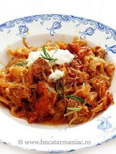 Reteta de Varza murata cu carne de porc Romanian Food, 30 Minute Meals, My Recipes, Shrimp, Curry, Meat, Vegetables, Ethnic Recipes, Blog