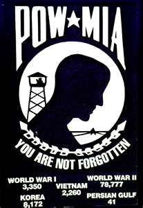POW/MIA. I bought my POW Bracelet at Glendean when I was 12 years old. I wore it faithfully for many, many years. My officer's name is inscribed in the Vietnam Memorial Wall, he never came home. CWO Robert C. Link.