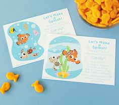 Finding Nemo Printable Invitations. Get your baby shower off on the right fin with customizable invites.