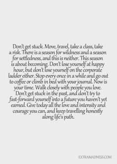 Don't get stuck...