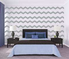 Cute Large Chevron Pattern - removable wallpaper. $60.00, via Etsy.