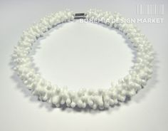 >>Necklace from glass popcorn - by Petra Hamplova<<  Enjoy Uniqueness & Quality of Czech Design http://en.bohemia-design-market.com/designer/petra-hamplova