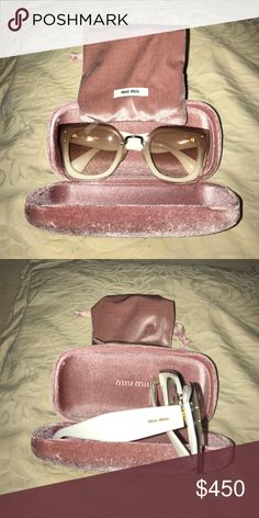 Mix Miu Sunglasses EXTREMELY trendy. Great especially with eyelash extensions- they won't touch!!! Perfect for day and night use. AUTHENTIC and used once. Flawless!!! Miu Miu Accessories Sunglasses