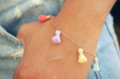 Pastel Tassel Bracelet; $19 at etsy.com