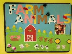 creative farm animals bulletin board animals Animals Bulletin Boards - Preschool and Kindergarten Farm Animals Preschool, Farm Animal Crafts, Farm Crafts, Animal Crafts For Kids, Daycare Crafts, Classroom Crafts, Classroom Themes, Preschool Crafts, Infant Classroom