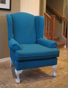 Thrift Store Chair + Acrylic Fabric Paint = New Chair!!