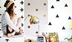 decorating with washi tape #gold #blacktriangles